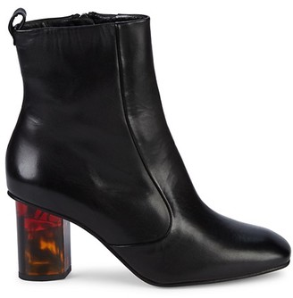 Kurt Geiger Stride Acrylic-Heel Leather Booties