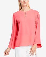 Vince Camuto Bell-Sleeve Keyhole Top