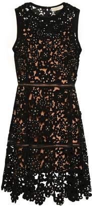 MICHAEL Michael Kors Embellished Laser-cut Suede Mini Dress