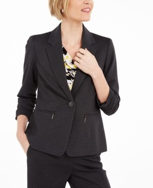 Kasper Zip-Pocket Blazer