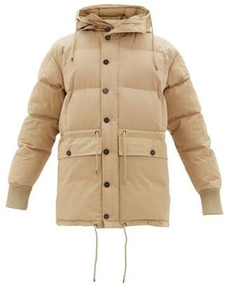 Raey Drawstring-waist Hooded Puffer Jacket - Mens - Light Brown