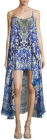 Camilla Embellished Silk Minidress with Long Overlay, Guardian Of Secrets