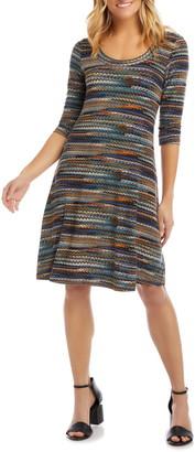 Karen Kane Stripe A-Line Dress