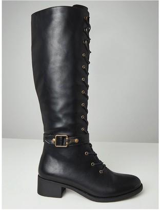 Joe Browns Twice As Nice Lace Up Boots - Black