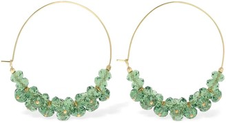 Isabel Marant Polly Beaded Big Hoop Earrings