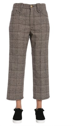 Marc Jacobs Cropped Checked Plaid Pants