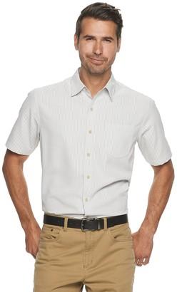 Croft & Barrow Men's Textured Microfiber Button-Down Shirt