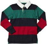 E-Land Kids Rugby Stripe (Toddler/Kid) - EK Navy-6