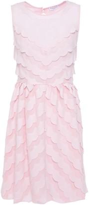 Claudie Pierlot Cutout Scalloped Crepe And Chiffon Mini Dress
