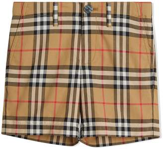 Burberry Vintage Check Cotton Tailored Shorts