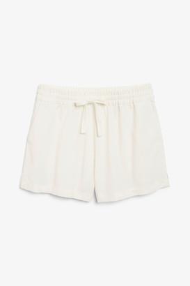 Monki High waist cotton shorts