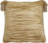 Horchow Austin Horn Classics Antoinette Pleated Silk European Sham with Tassels