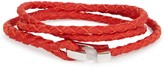 Miansai Ipsum Red Hook Leather Wrap Bracelet