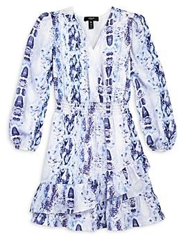 Aqua Girls' Snake Print Peasant Dress, Big Kid - 100% Exclusive