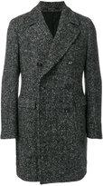 Tagliatore chevron knit double breasted coat