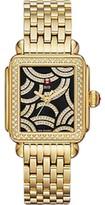 Michele Art Of Deco Diamond Gold 33mm Watch