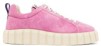 Eytys Odessa Ridged-sole Suede Trainers - Mens - Pink