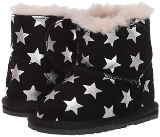 Emu Toddle Starry Night (Infant) (Black) Girls Shoes