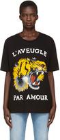 Gucci - T-shirt noir Roaring Tiger