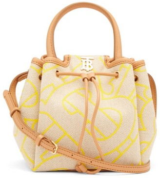Burberry Peony Xl Tb-tape Canvas Cross-body Bag - Yellow Multi