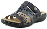 Earth Origins Kaitlyn W Open Toe Leather Slides Sandal.