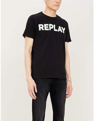 Replay Logo-print cotton-blend T-shirt