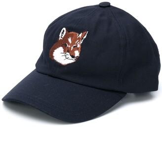 MAISON KITSUNÉ Embroidered Fox Baseball Cap