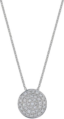 Carriere Sterling Silver Diamond Disc Pendant Necklace - 0.20 ctw