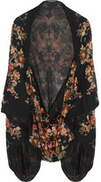 Alexander McQueen Printed silk-georgette cape