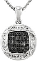 FINE JEWELRY 1/5 CT. T.W. White and Color-Enhanced Black Diamond Pendant Necklace