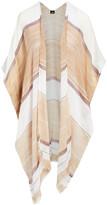 Lvs Collections LVS Collections Women's Kimono Cardigans KHAKI - Khaki & White Color Block Kimono - Women