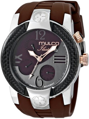 Mulco Unisex MW5-1877-113 ILUSION Crescent Analog Display Swiss Quartz Multifunctional Watch (Brown)