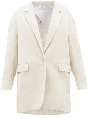 Etoile Isabel Marant Natty Single-breasted Cotton Jacket - Womens - Ivory