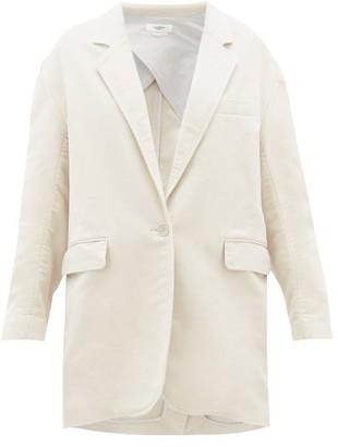 Etoile Isabel Marant Natty Single-breasted Cotton Blazer - Ivory