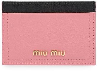 Miu Miu madras leather card holder