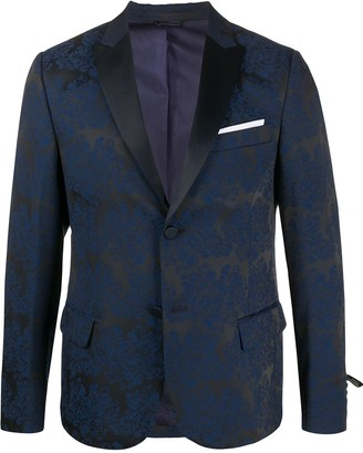 Daniele Alessandrini Single-Breasted Fitted Blazer