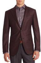 Ermenegildo Zegna Checked Wool & Silk Blend Blazer