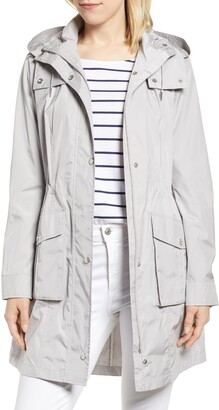 Cole Haan Packable Rain Jacket with Removable Hood