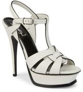 Saint Laurent Tribute Leather Platform Sandals