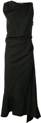 Maticevski Gathered Asymmetrical Midi Dress