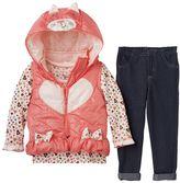 """Nannette Little Kitty"""" Puffer Vest Set - Baby Girl"""