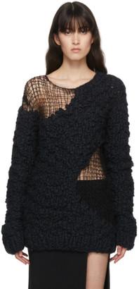 Ann Demeulemeester Black Hand-Knit Wool Ielena Sweater
