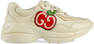 Gucci Children's GG apple print Rhyton sneaker