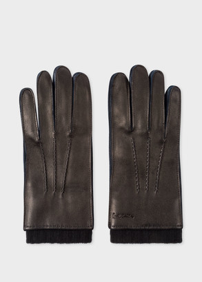 Men's Black Deerskin Silk-Cashmere Lined Gloves