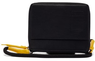 Rick Owens Large Coated-cord Leather Cross-body Bag - Black