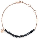 Meira T 14K Rose Gold Mystic Bracelet with Silver Black Spinel
