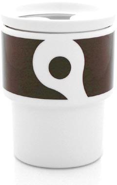 notNeutral Links Brown Mug with Lid Set (Set of 4)