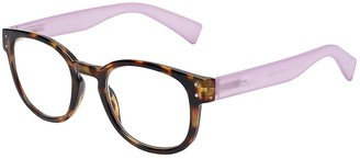 SAV Eyewear (Select-A-Vision) VK Couture Fashion Round Reading Glasses 1308 Black Demi 2.25