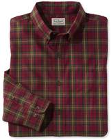 L.L. Bean L.L.Bean Men's Wrinkle-Free Mini-Tartan Shirt, Slightly Fitted