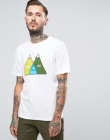 Poler T-Shirt With Mountain Print